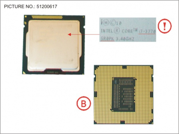 CPU CORE I7-3770  3.4GHZ 77W