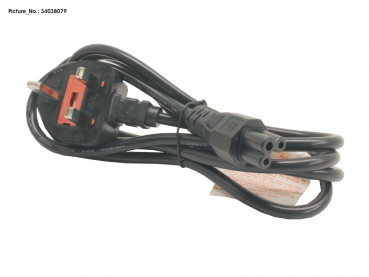 POWER CABLE (UK) 3-PIN
