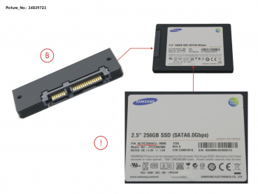 SSD S3 256GB 2.5 SATA (7MM) (WIN8)