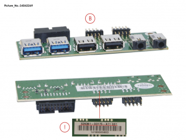 FRONT I/O BOARD USB2+3.0+AUDIO