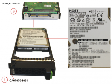 "DX S3 HDD SAS 300GB 10KRPM 2.5"" X1"