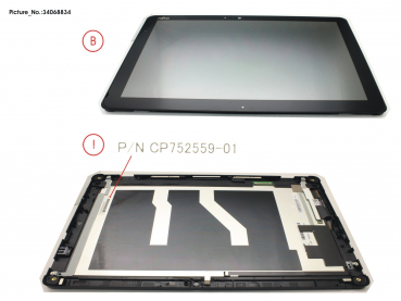 LCD ASSY,AG INCL.TP AND DIGI FOR SC