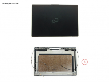 LCD BACK COVER BLACK TOUCH