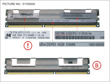 DX440 S2 4GB DIMM 1BAR