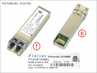 SFP+ MODULE SINGLE MODE FIBER 10GBE LR