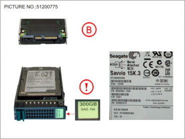 HD SAS 3GB/S 300GB 15K HOT PLUG 2.5