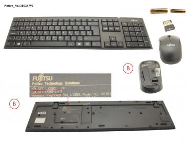 38034790 NORD Fujitsu WIRELESS KB MOUSE SET LX390 NORD