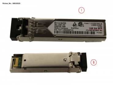 SFP, 1GBE, 1000BASE-SX, LC CONNECTOR