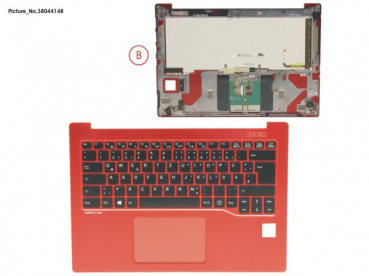 UPPER ASSY RED INCL. KEYBOARD GERMAN
