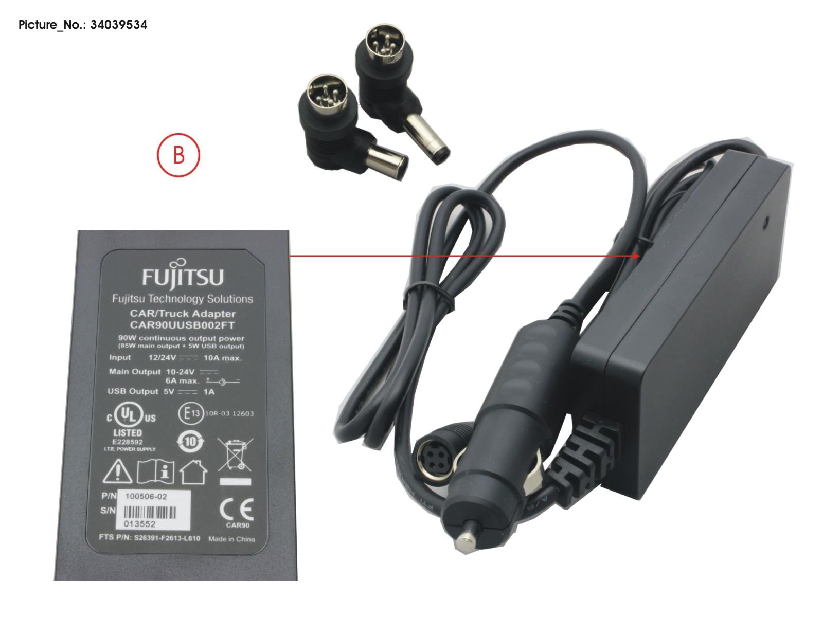 Car Truck Power Adapter 90original Fujitsu Spare Parts For Primergy Supply Adaptor 24v 6a 90