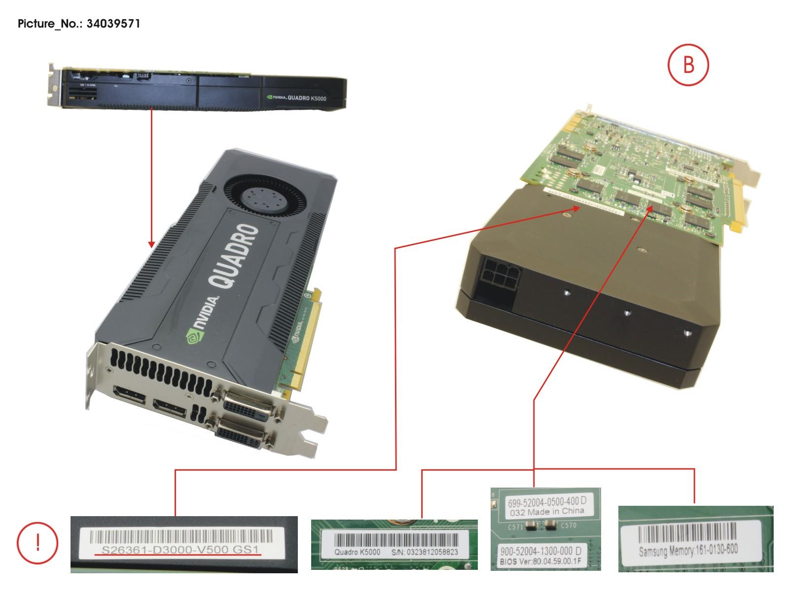 VGA NVIDIA QUADRO K5000 4GB