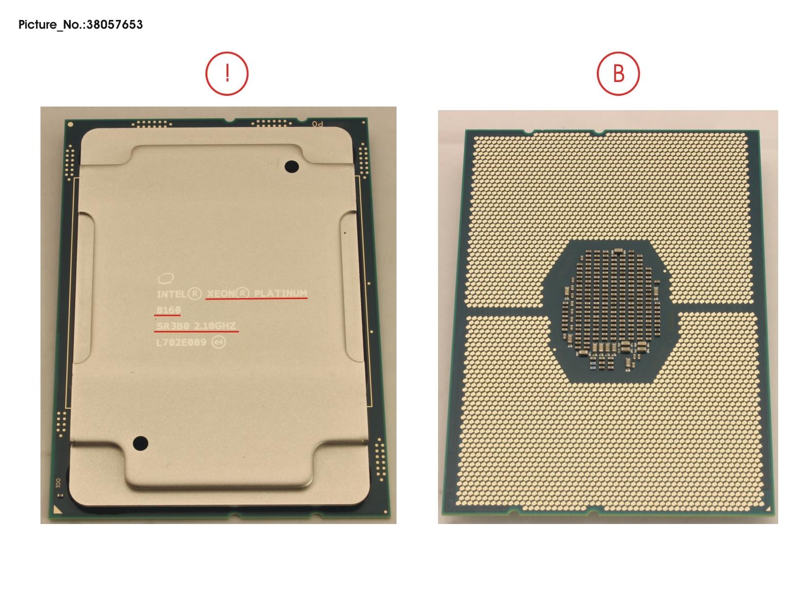CPU XEON PLATINUM 8160 2,1GHZ 150W