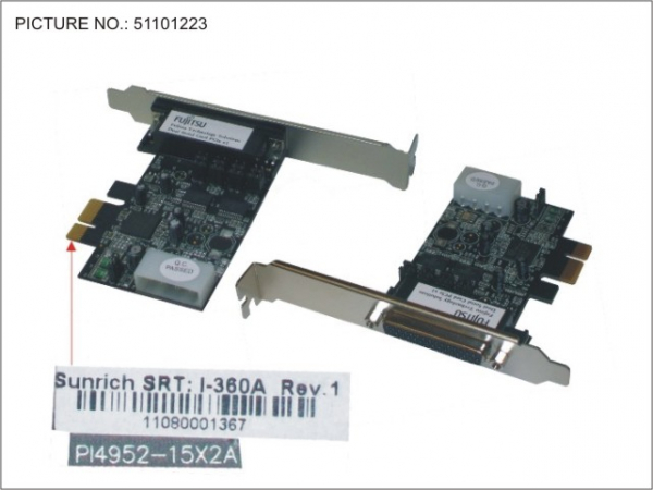 DUAL SERIAL CARD PCIE X1, POWERED