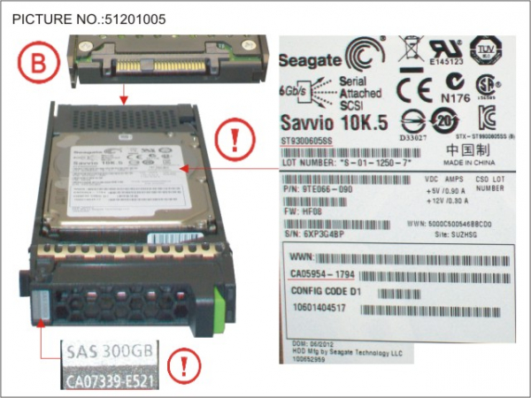 DX S2 HDD SAS 300GB 10K 2.5 10K5