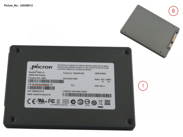 SSD S3 256GB 2.5/MOI (7MM) WIN8