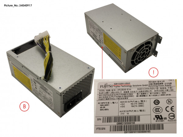 POWER SUPPLY 250W 85+ LC