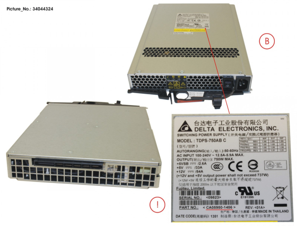 DX80/90 S2 POWER SUPPLY UNIT