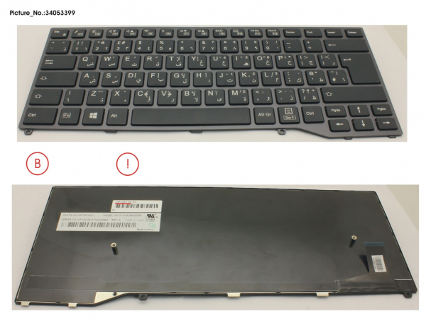 KEYBOARD BLACK W/O TS ARABIC/UK