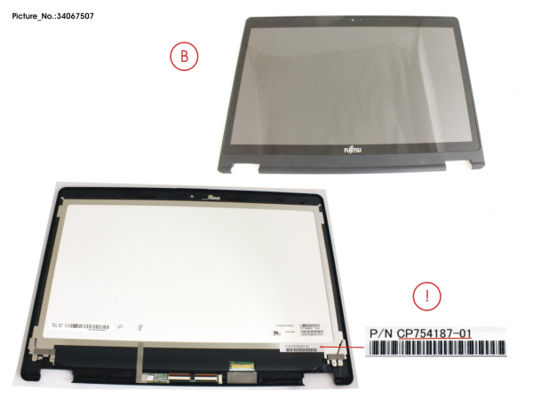 LCD ASSY FHD, G INCL.TOUCHPANEL
