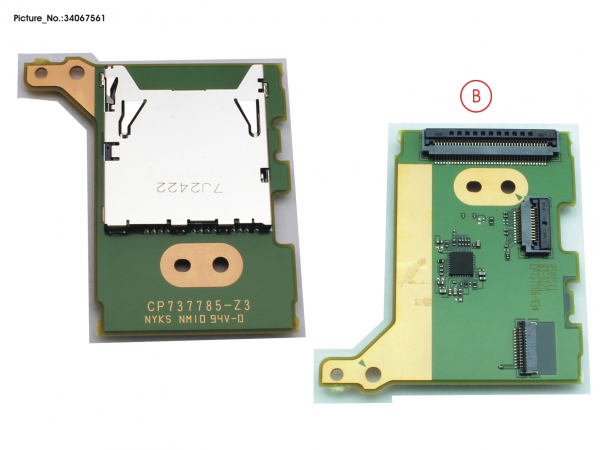 SUB BOARD, SD CARD READER