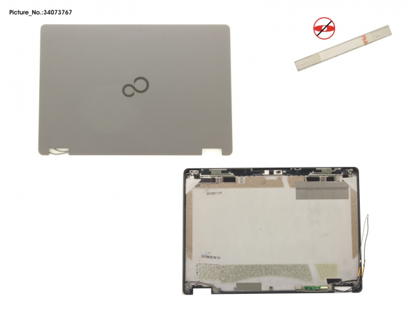 LCD BACK COVER ASSY (FOR HD,W/MIC,WWAN)