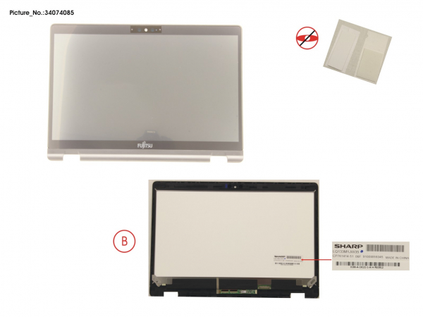 LCD ASSY FHD, AG INCL.TOUCHPANEL