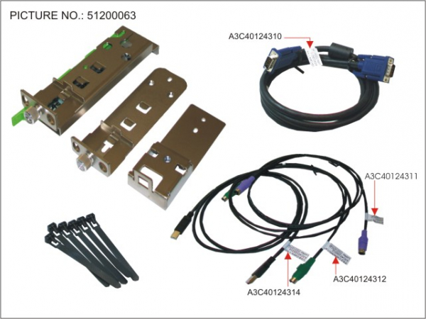 RC25-KVM-SWITCH MOUNTING-KIT M.KABELN