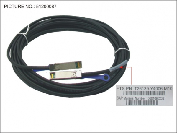 SFP+ ACTIVE TWINAX CABLE 10M