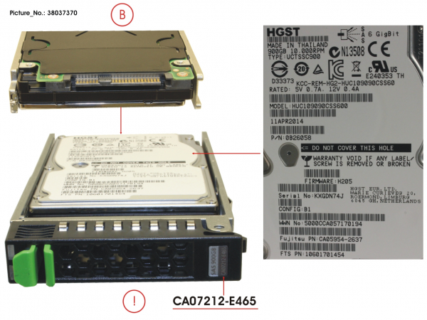 HDD DX S2 SAS 900GB 10K 2.5 X1(&S1)
