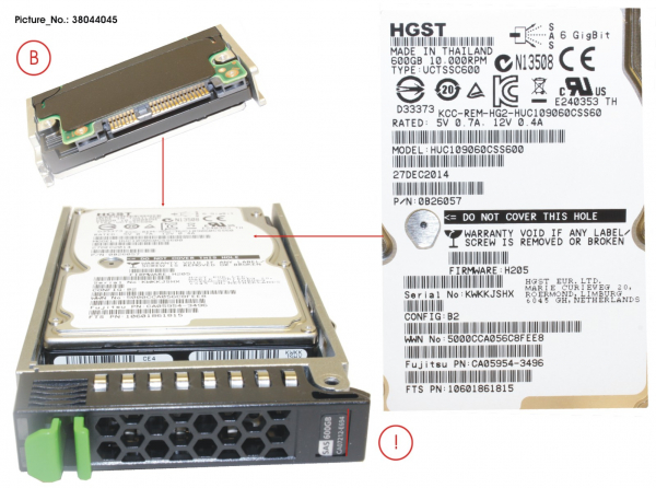 DX60 S2 HD SAS 600GB 10K 2.5 X1