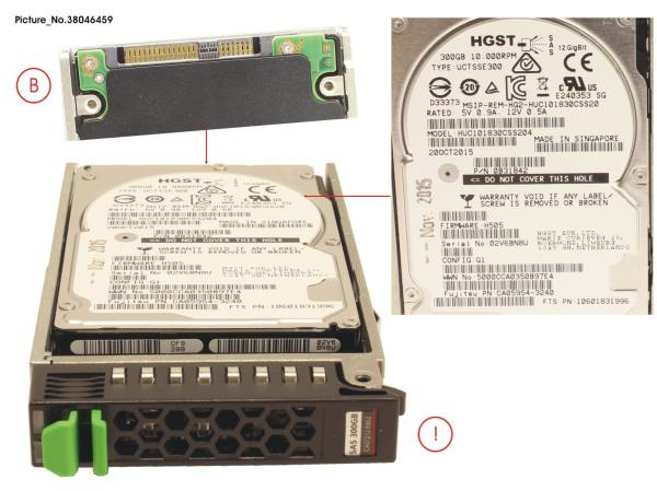 DX60 S2 HD SAS 300GB 10K 2.5