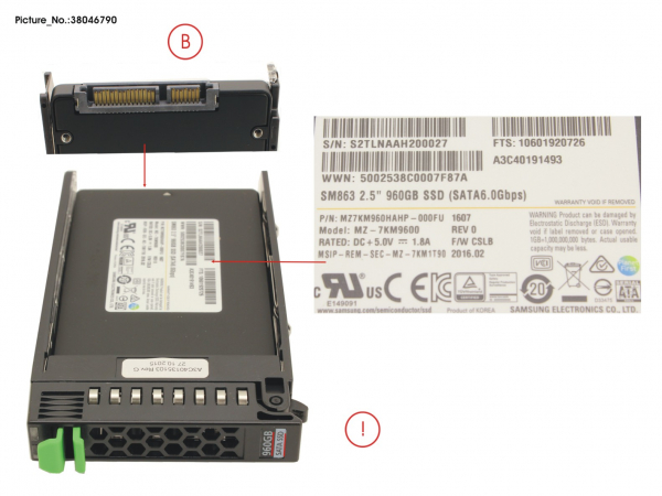SSD SATA 6G 960GB MIXED-USE 2.5  H-P EP