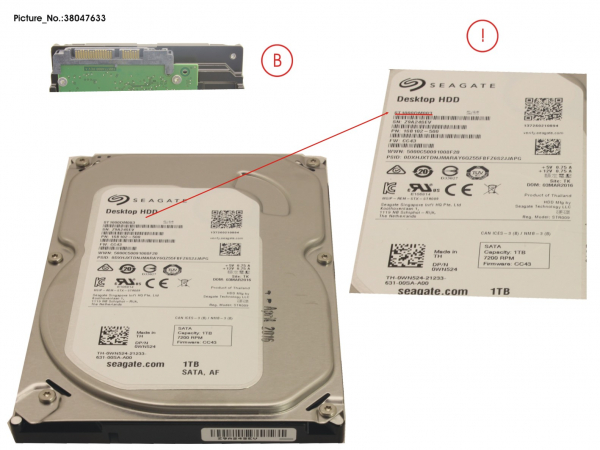 HD SATA 6G 1TB 7.2K NO  HOT PL 3.5   ECO