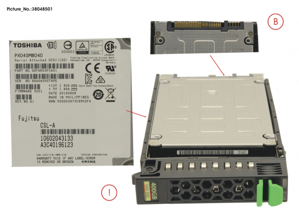 SSD SAS 12G 400GB WRITE-INT. 2.5  H-P EP