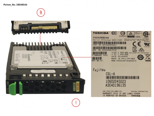 SSD SAS 12G 480GB READ-INT. 2.5  H-P EP
