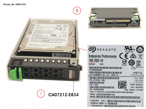 DX60 S2 HD SAS 600GB 10K 2.5