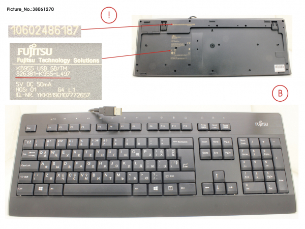 KEYBOARD KB955 USB GB/TM
