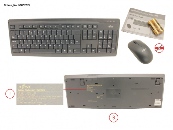 WIRELESS KB MOUSE SET LX410 GB