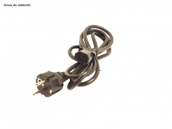 POWERCABLE EU 1,8M GREY (ROHS)